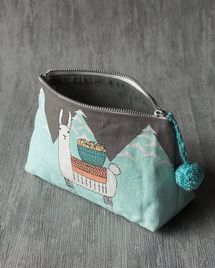 Llamarama Cosmetic Bag - Small   Mama Bath + Body
