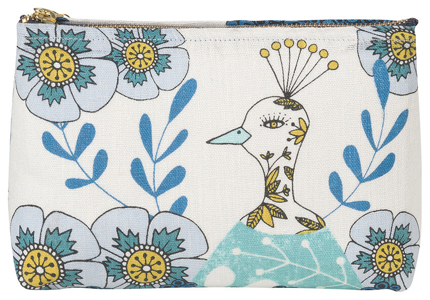 Birdland Cosmetic Bag - Small | Mama Bath + Body