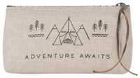 Adventure Awaits Cosmetic Bag - Pencil