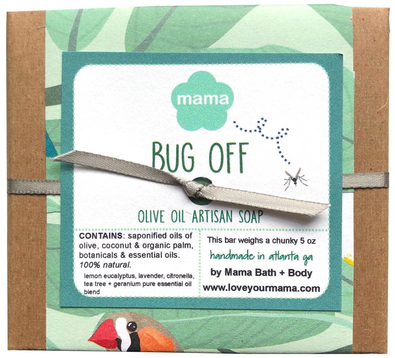 Bug Off Soap (Gift Wrapped) - July Soap of the Month  | Mama Bath + Body