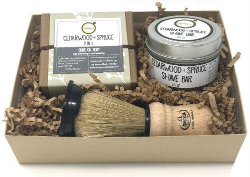 Daddy-O Cedarwood + Spruce Shave Kit | Mama Bath + Body