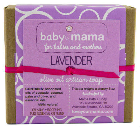 BabyMama Lavender Soap - Gift Wrapped | Mama Bath + Body