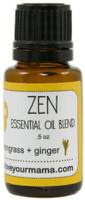 Zen (Lemongrass + Ginger) Essential Oil Blend   Mama Bath + Body