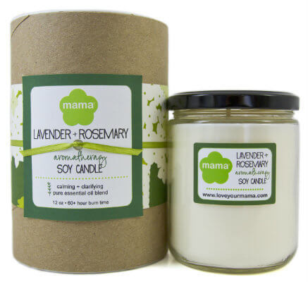 Lavender + Rosemary Soy Candle - Glass Jar | Mama Bath + Body