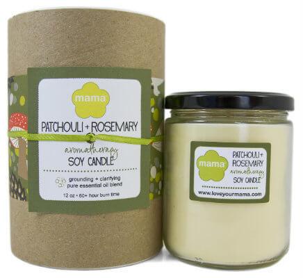 Patchouli + Rosemary (Karma) Soy Candle - Glass Jar | Mama Bath + Body