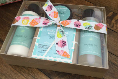 BabyMama Unscented Gift Set | Mama Bath + Body