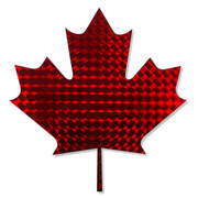 Red Holographic Maple Leaf Decal/Mosaic Prism Decal