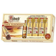 Asbach Uralt Liqueur Filled Bottles with Sugar Crust 100g - 3.5Oz - 8 Pcs