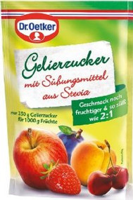 Dr. Oetker Preserving Sugar with Sweeteners from Stevia