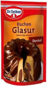 Dr Oetker Dunkel Kuchen Glasur 125g/4.4oz Dark Chocolate Icing