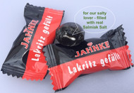 Jahnke Lakitz Gefuellt - Salmiac salt Filled Licorice 125 g / 4.4 Oz