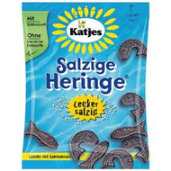 Katjes Salzige Heringe, Salty Fish Licorice Bag of 200g / 7.05 Oz