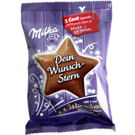 Milka Wunsch Stern / Star Shaped Milka Chocolate 31g / 1 Oz - Make a Wish Foundation Item