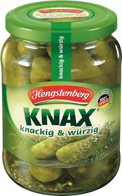 Hengstenberg Knax Knackige Gurken - Crunch Gherkins - German No 1 Pickel - 720 ml - 24.3 fl Oz