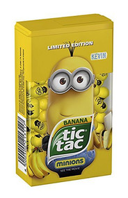 Tic Tac Banana Minions KEVIN Med Box 1.73 Oz - 49g