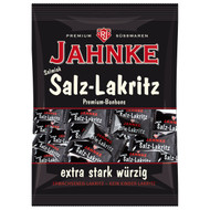 Jahnke Big Bag Salmiak-salt Licorice / Salmiak-Salz-Lakritz 300 g - 10.58 Oz