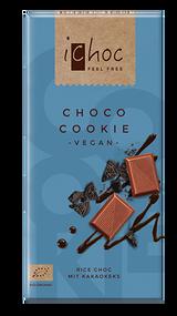 ichoc VEGAN Chocolate Bar Choco Cookie 80g - 2.82 Oz