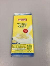 Frankonia German Lactose / Gluten Free White Chocolate Crisp Chocolate Bar 100g - 353Oz