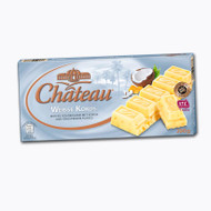 Chateau Weisse Kokos - White coconut - with crispy flakes and fine coconut flakes in white chocolate 200g - 7.05 Oz