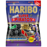 Haribo Denmark Mini Super Piratos Bag of 360g - 12.7Oz