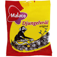 Malaco Djungelvrål  Big Bag of 450g / 15.87 Oz (Medium Soft Salty Licorice)