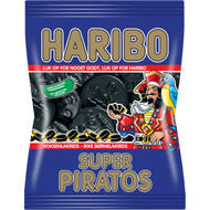 Haribo Denmark Super Piratos Bag of 360g - 12.7Oz