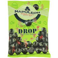 Napoleon Dutch Drop Licorice Single wrapped Hard Balls with Sour Sherbet filling Bag of 150g - 5.2oz