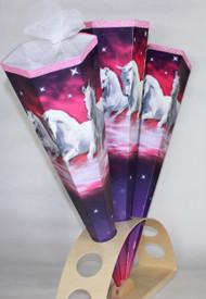 """KidsCone Trio White Horses (Hexa) Schultüte Zuckertüte (27"""")"""