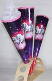 """KidsCone Trio White Horses (Round) Schultüte Zuckertüte (27"""")"""