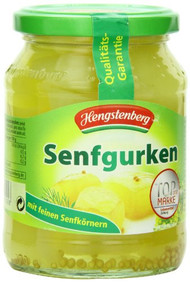Hengstenberg Senfgurken German Mustard Pickles Gherkins 370ml - 12.50 Oz