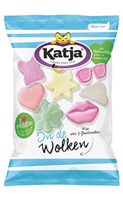 Katja / Katjes | In de Wolken - In the Clouds  | Fruity Foam Vegetarian Candy | 275g - 9.7oz