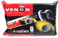 Venco Topdrop Hard Zout Salt Dutch Black Licorice 4 Rollen Rolls a 47g (=188g - 6.6oz)