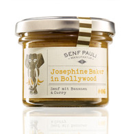 SenfPauli handmade manufacture mustard #06: Josephine Baker in Bollywood - Banana Curry Mustard 121g - 4.7oz Glas Jar