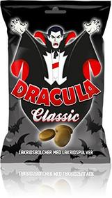 Scan Choco Dracula classic danish hard licorice bag of 130g - 4.5 oz