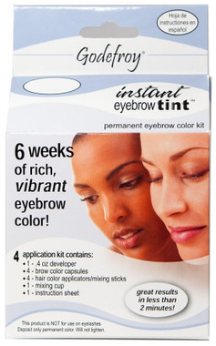 Godefroy Instant Eyebrow Tint Permanent Color Kit - Natural Black ...