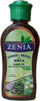 Zenia Indigo Henna Amla Hair Oil 100% Natural No Mineral Oil 200ml