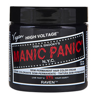 Manic Panic Raven Black Classic Semi-Permanent Hair Dye Color Cream 4 Oz