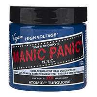 Manic Panic Atomic Turquoise Classic Semi-Permanent Hair Dye Color Cream 4 Oz