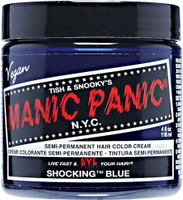 Manic Panic Shocking Blue Classic Semi-Permanent Hair Dye Color Cream 4 Oz