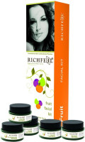 Richfeel Fruit Facial Kit (Cleanser Cream Scrub Mask Gel)