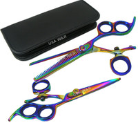 Swivel Thumb Hair Cutting + Thinning Shears Set