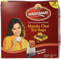 Wagh Bakri Masala Chai 100 Tea bags Indian Tea