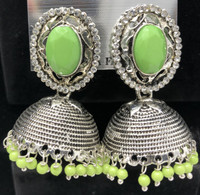 green Jhumka  Earrings