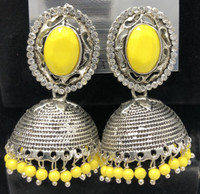 Jhumka  Earrings  yellow