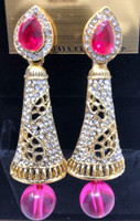 Earrings  magenta