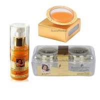 Shahnaz Husain Gold Facial Kit 3 Pack Cream Scrub Mask Gel