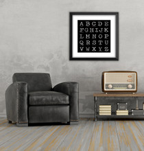 WV ABCs Fine Art Print For Library, Home or Dorm