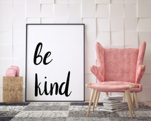 Be Kind, Be Brave, Be Bold Quote Set of Three. Minimalist Fine Art Prints For Dorm, Bedroom, Office or Classroom
