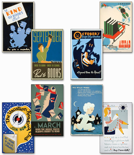 Historic Reading Posters Set