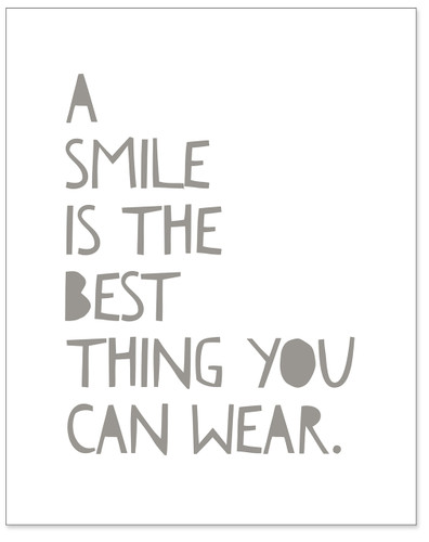 A Smile is the Best Thing You Can Wear - Uplifting Fine Art Print for Classroom, Nursery, Home, or Dorm.